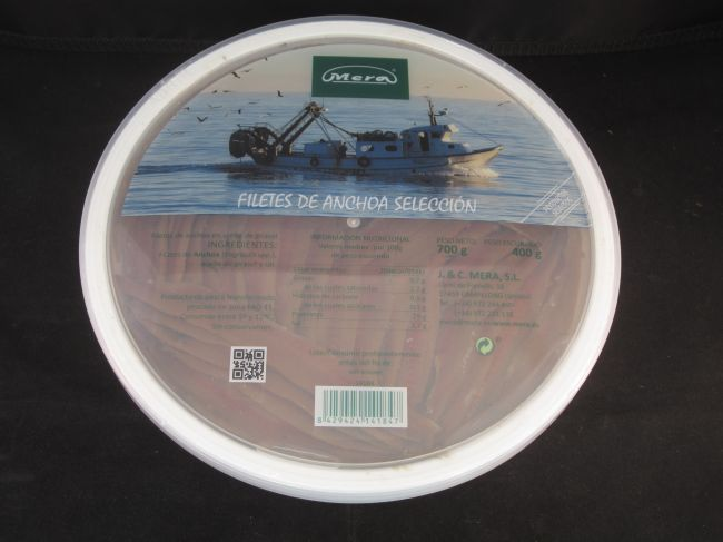 ANCHOVIES  FILLET SELECTION TUB IN OIL (700 g.) - 14184