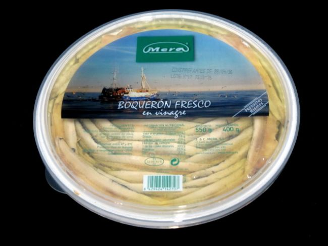 GOLD SERIES CANTABRIC MARINATED ANCHOVY TUB IN OIL (700 g.) - 14270