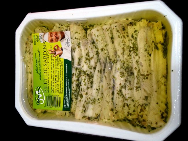 SARDINES DRESSED WITH EXTRA VIRGIN OLIVE OIL AND VINEGAR - 14057