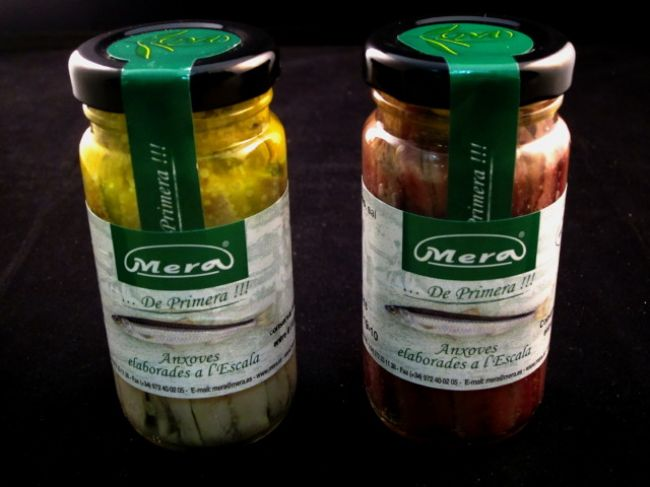 L\'ESCALA MARINATED ANCHOVY FILLET CRYSTAL JAR IN OLIVE OIL (100 g.) - 14292