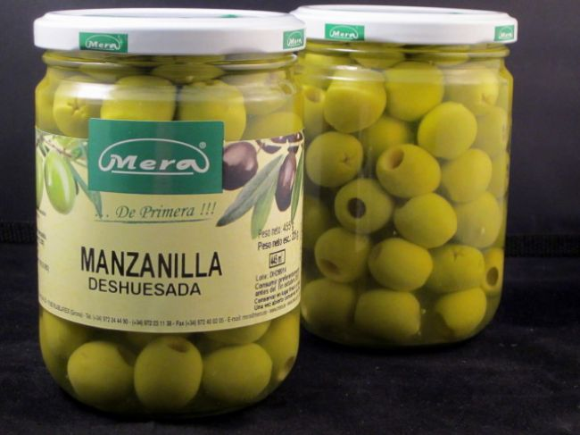 PITTED MANZANILLA OLIVE (445 ml) - 37014
