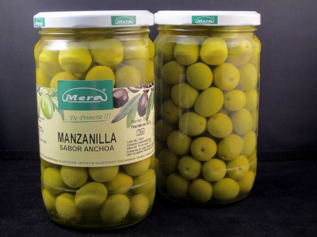 ANCHOVIES FLAVOURED MANZANILLA OLIVE (720 ml) - 35015