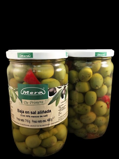 720mL LOW SALT OLIVES JAR (6u/box)  - 35056